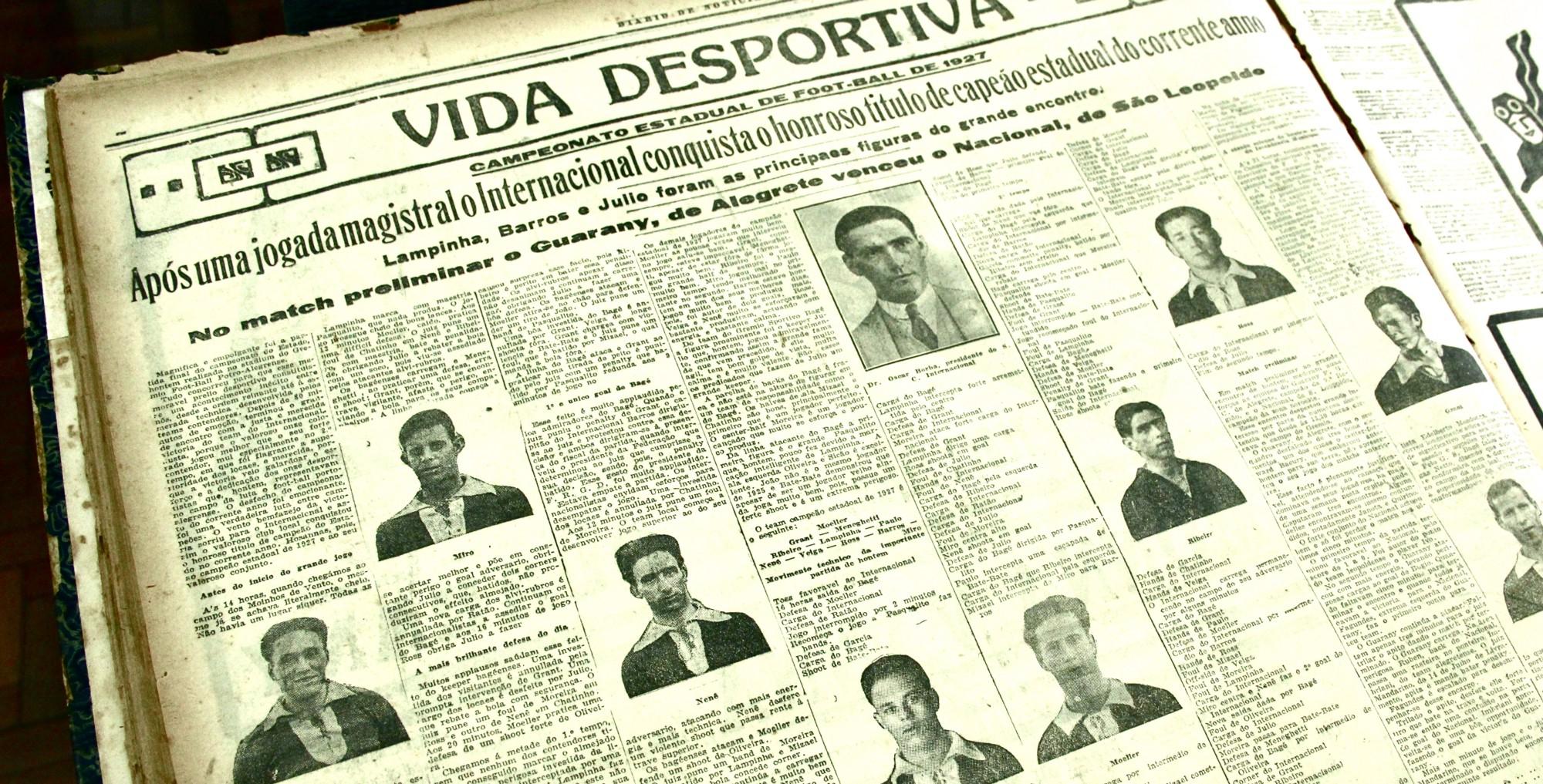 Campeonato Gaúcho de 1927—primeiro e único gauchão vencido pelo Inter sem a participação de atletas negros.