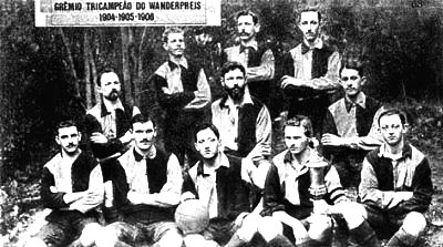 Time do Grêmio, campeão do Wanderpreis em 1908.