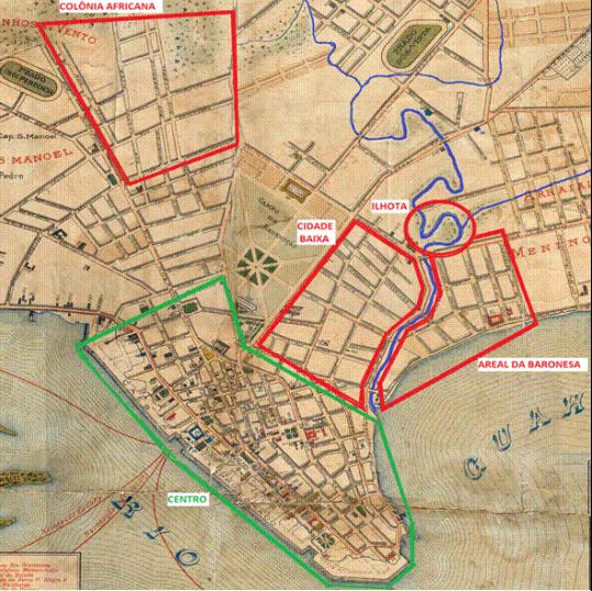 Fonte: Arquivo Histórico Municipal Moysés Vellinho—ver mais sobre territórios negros de Porto Alegre no início do século XX neste trabalho de Felipe Rodrigues Bohrer.