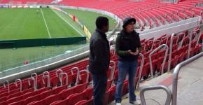 TV Câmara, gravação no estádio Beira Rio