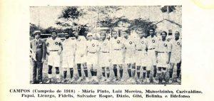 Campos Campeão de 1918 (foto reprodução)