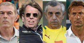 França é o país com mais técnicos no torneio: Dussuyer, Le Roy, Giresse e Renard (Foto: Fadel Senna/AFP)