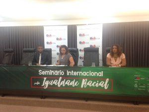 Seminário Internacional pela Igualdade Racial (foto divulgação)