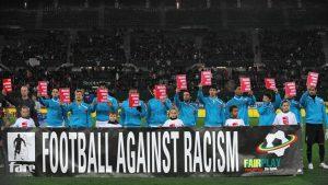 A discriminação racial tem um forte monitoramento da UEFA. Imagem: Divulgação/UEFA