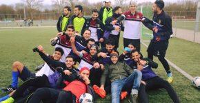 Jogadores do Syriana, time belga que atua com refugiados (divulgação)