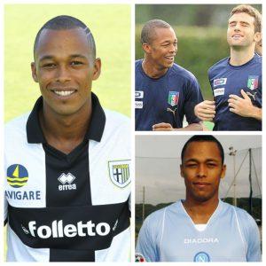 Santacroce acumula passagens por Napoli, Parma e pela seleção italiana (Foto: Divulgação/Arte GloboEsporte.com)