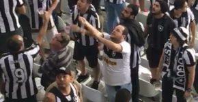 Torcedor injúria racial Botafogo x Flamengo Copa do Brasil Nilton Santos (Foto: Reprodução)