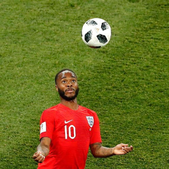 482b51a5c Sterling durante partida entre Inglaterra e Tunísia pela Copa do Mundo 2018  EFE