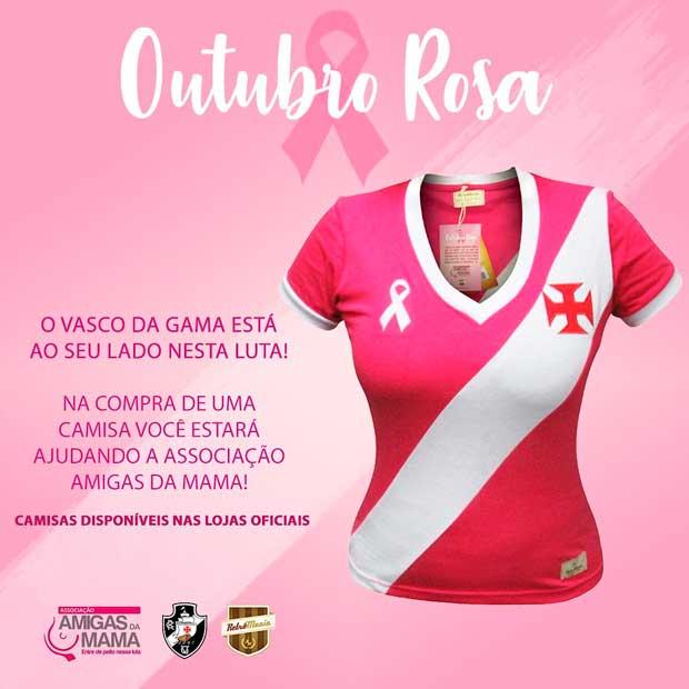 ebe9f97d8fa0a Vasco lança camisa em homenagem ao Outubro Rosa